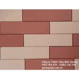 Gạch Thẻ 6×24 đỏ Kem