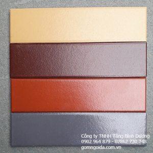 Gạch Thẻ 6×24 Tráng Men (đỏ, Nâu, Kem, Xám)