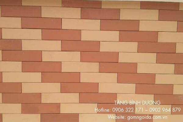 Sử dụng Gạch thẻ cotta ốp tường