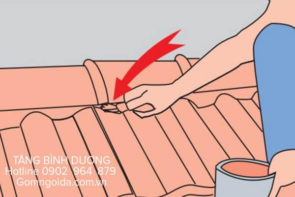 Cách lợp ngói nóc tiểu